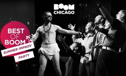 Entreeticket Best of Boom Summer Improv Party voor 16 pers. bij Boom Chicago aan de Rozengracht in Amsterdam