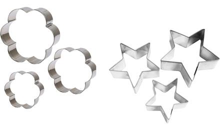 Set di 3 formine in acciaio