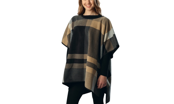 Women's Patterned Ponchos (One Size)