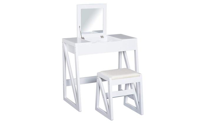 HOMCOM Pine Dressing Table