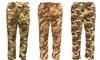 Men's Camo Print Fleece Lounge Pants: Men's Camo Print Fleece Lounge Pants