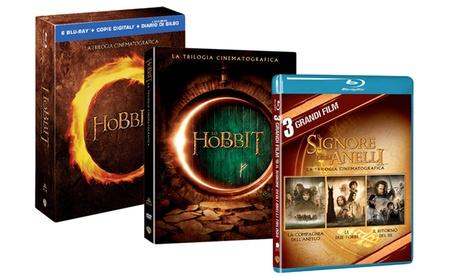 Trilogia Il Signore Degli Anelli e Lo Hobbit in DVD e BluRay