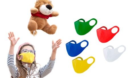 1 o 2 mascarillas faciales para niños reutilizable y elástica