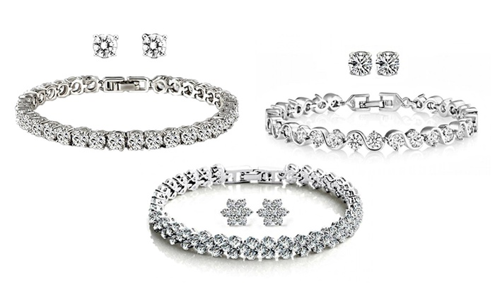 Fakurma UK - Merchandising (AE): Duo Sets Made with Swarovski Elements from AED 79 (Up to 86% Off)