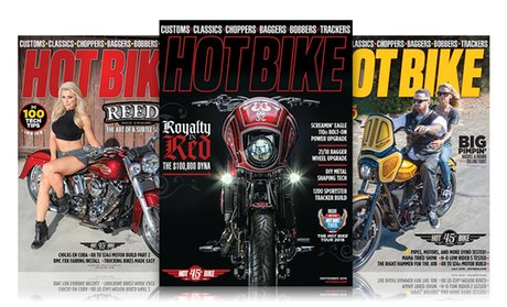 1-Year, 12-Issue Subscription to Hot Bike Magazine!