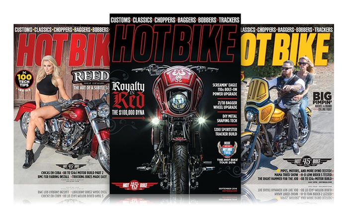 1-Year, 12-Issue Subscription to Hot Bike Magazine