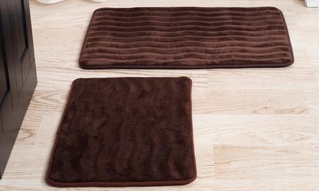 Memory-Foam Wave Bathmat Set (2-Piece) 35edc982-6ca4-11e7-b973-00259060b5da