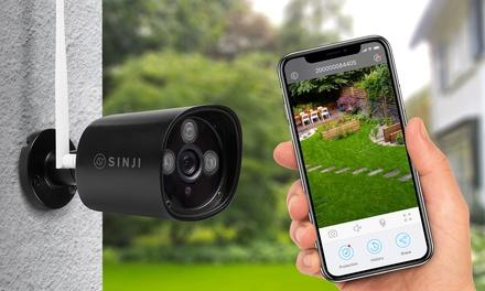1 ou 2 caméras extérieures Sinji avec fentes MicroSD pour cartes jusquà 128 Go