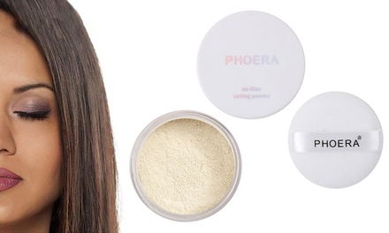 One or Two Phoera Oil-Control Matte Loose Setting Powders