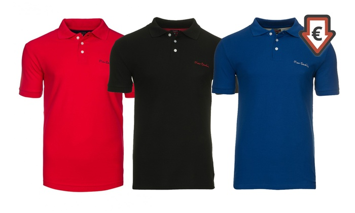 Groupon Goods Global GmbH: Pierre Cardin Herren-Poloshirt in der Farbe nach Wahl (83% sparen*)