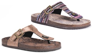 Muk Luks Tina Women's Memory Foam Slip-On Sandals