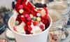 Frozen Yogurt mit 3 Toppings