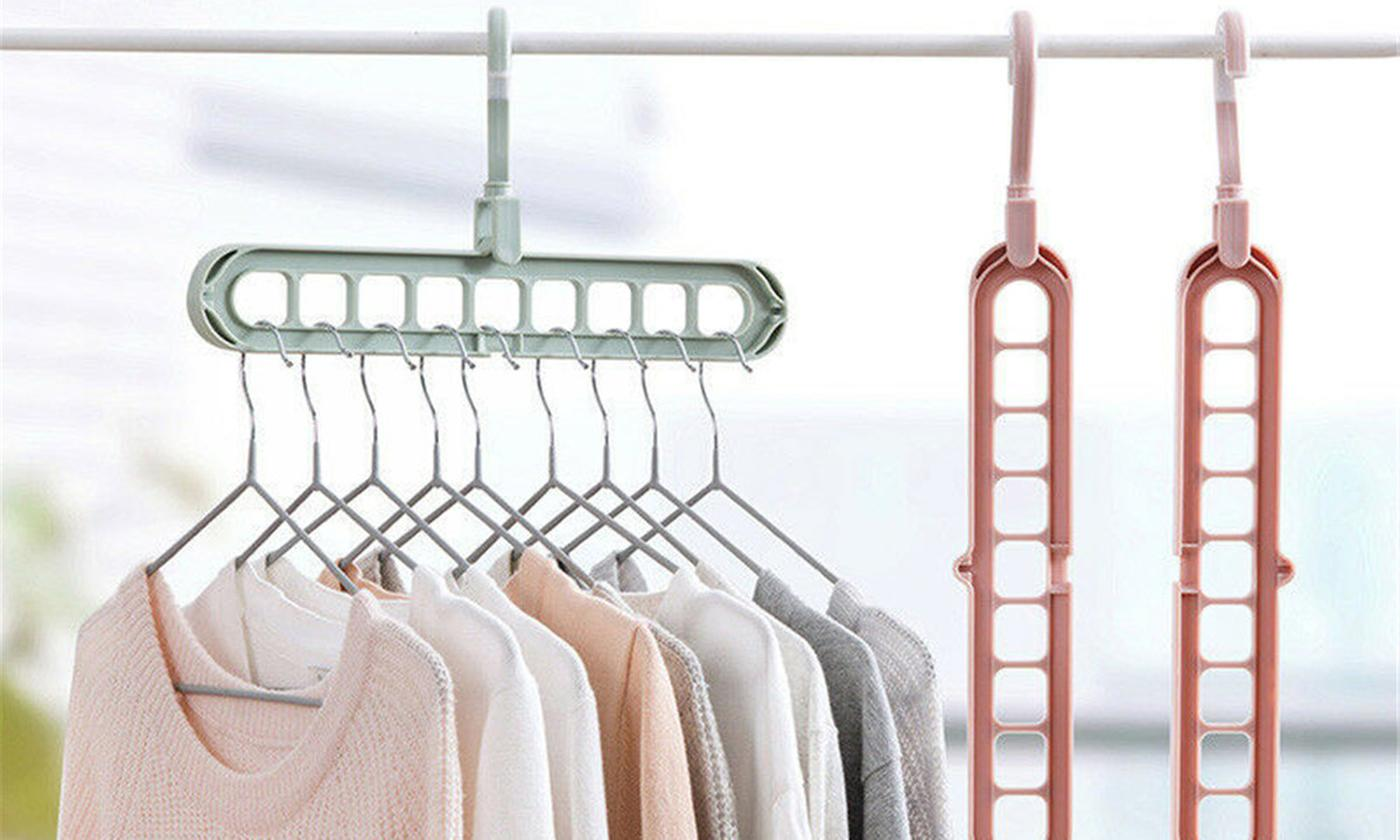 One, Two or Four Nine-Hole Foldable Hangers