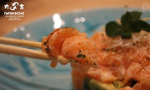 Daikichi : Menú degustación japonés para 2 o 4 personas con entrantes, sushi, tartar, postre y sake desde 24,95 € en Daikichi