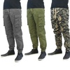 Men's Cargo and Flat Front Cotton Twill Joggers (2-Pack)