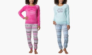 Muk Luks Free to Be Me Women's Silky Velour Pajama Set
