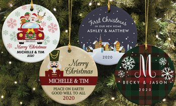 Up to 77% Off Personalized Round Ceramic Ornaments