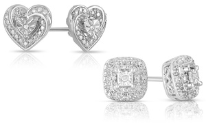 Closeout: Diamond Accent Stud Earrings at Closeout: Diamond Accent Stud Earrings, plus 6.0% Cash Back from Ebates.