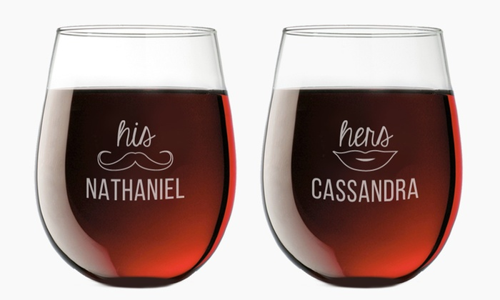 Custom Slate Coaster Or Stemless Wine Glass Groupon