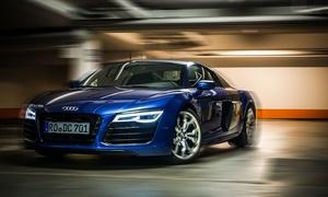 Diamond Cars Stuttgart: 30, 60 oder 90 Min. Audi R8 5.2 FSI V10 selber fahren bei Diamond Cars Stuttgart (bis zu 57% sparen*)