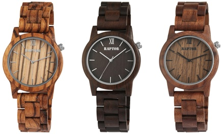 Unisex Raptor Wooden Watch in Choice of Style With Free Delivery