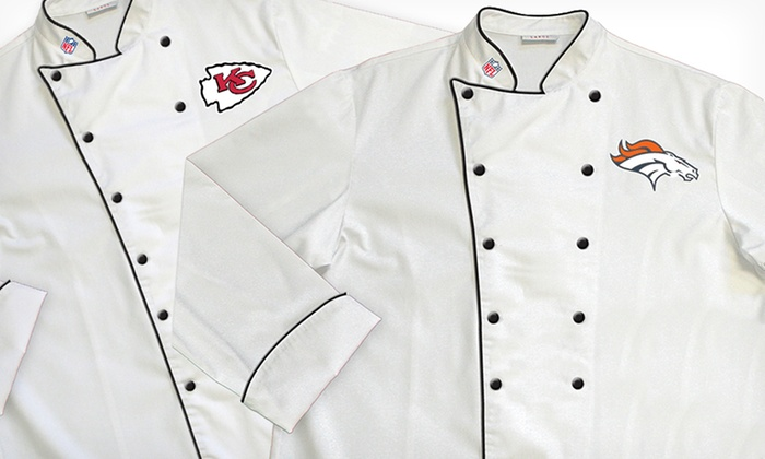 NFL AFC West Classic or Premium Chef Coats: NFL AFC West Classic or Premium Chef Coats (Up to 64% Off). Multiple Teams Available. Free Shipping and Returns.