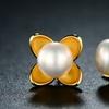 Cultured Freshwater Pearl Flower Stud Earrings By Peermont