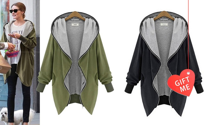 $29 for a Women's Oversize Hooded Jacket