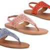 Olivia Miller Laser Cut Women's Sandals