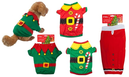 Snow White Pet's Santa Suit or Elf Outfit in Choice of Size