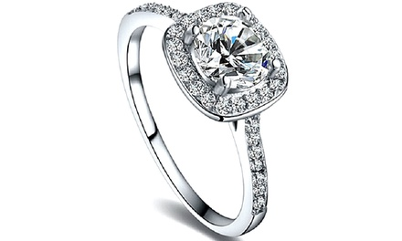 Crystal Solitaire Ring for £7.99
