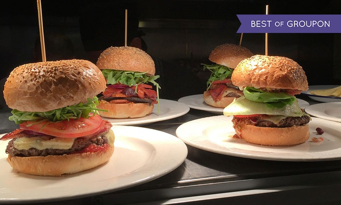 BóBós Burgers Restaurant - Multiple Locations: Two Burgers with Side of Chips at Choice of Three Bobos Burgers Locations (Up to 50% Off)