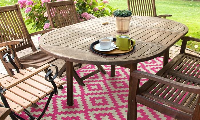 gemusterter kunststoffteppich groupon goods. Black Bedroom Furniture Sets. Home Design Ideas