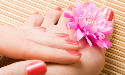Shellac Manicure, Deluxe Pedicure, or Both at Nina Nails (Up to 44% Off)