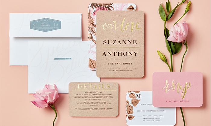 Custom Wedding Invitations - Wedding Paper Divas | Groupon