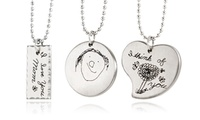 Collection and Custom Doodle Etched Stainless Steel Necklaces from Stamp The Moment