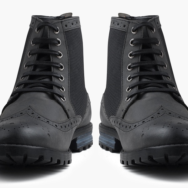 Redfoot Leder Boots in Worker Style in Schwarz oder Braun