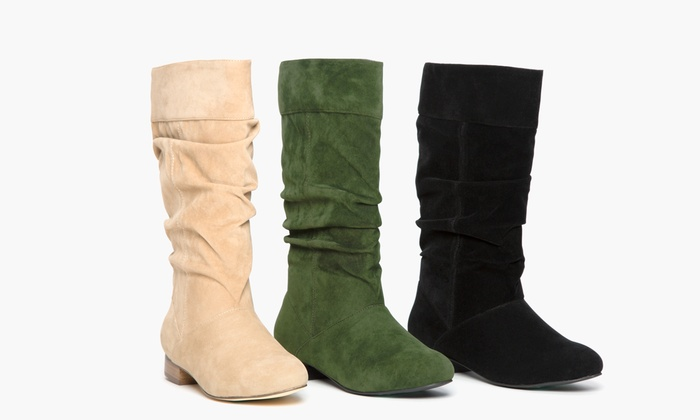 Olive Street Women S Microsuede Riding Boots