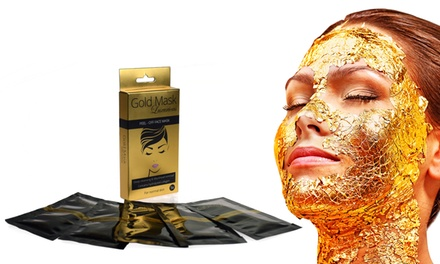 5-, 10-, 20- or 30-Pack of Gold Peel-Off Face Masks