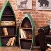 Metal and Wood Boat Shelf Set
