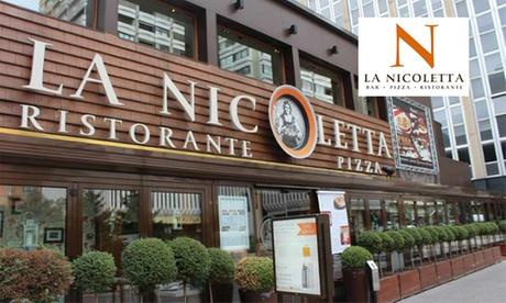 Menú italiano con entrante, principal, postre y bebida para 2 o 4 personas desde 29,95 € en La Nicoletta, 5 ubicaciones