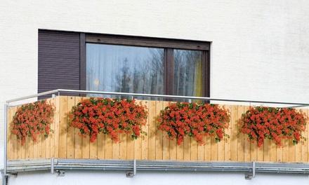 Schermo per balcone proteggi vista da 5 m x 85 cm con occhielli e fascette per il fissaggio