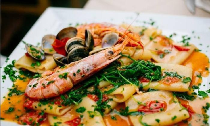 ristorante cucina san domenico modena menu pesce di 4 portate con bottiglie di vino