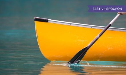 9 Std. Kanu oder Kajak für Zwei oder Kanadier für Drei oder Fünf bei Marina Base Bootsverleih (bis zu 56% sparen*)