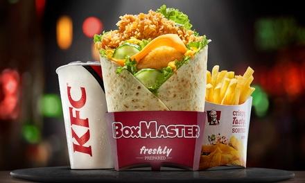 Bon d'achat pour menu burger ou bucket pour 2 pers., restaurant participant au choix, à emporter, à 2€ avec KFC