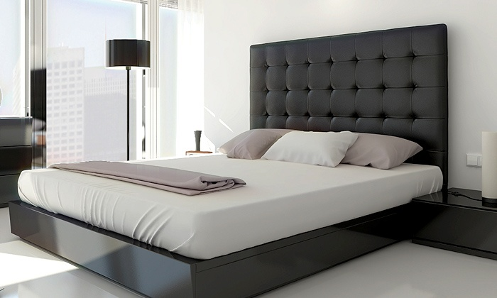 T te de lit capitonn e groupon shopping for Chambre a coucher 2 places