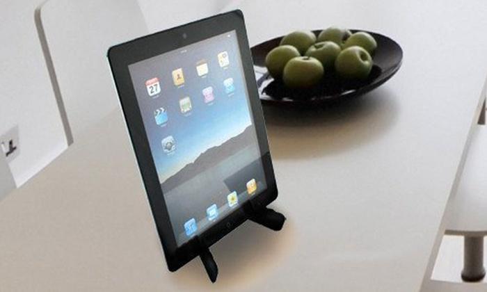 Groupon Goods Global GmbH: Faltbarer Tablet-Ständer in Schwarz (bis zu 84% sparen*)