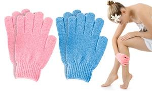 Paire de gants exfoliants