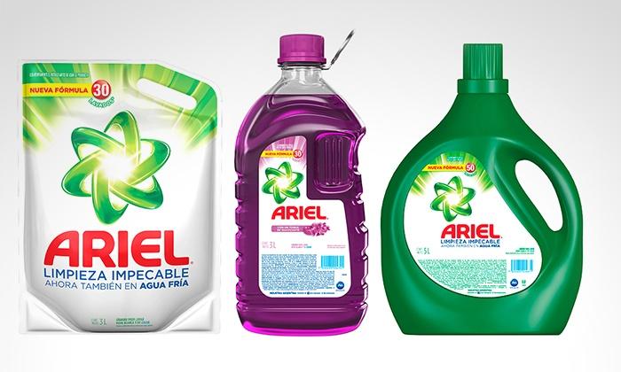 Ariel - Múltiples sucursales: Desde $296 en vez de $395 por detergente o jabón líquido Ariel para retirar en sucursal