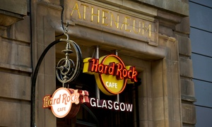 Hard Rock Cafe Glasgow: Hard Rock Cafe Dining Experience: Two Courses with a Choice of Cocktail and Tea or Coffee (Up to 52% Off)